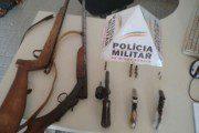 PM apreende cinco armas de fogo no Córrego Leitão