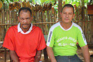 Hélcio e o presidente da casa de recuperação, José Carlos