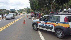 Ciclista cruzava a pista quando houve o acidente