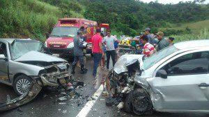 Colisão frontal resultou na morte de um motorista