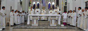 Missa foi celebrada na catedral de São João Batista