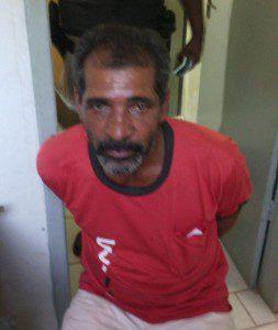 Suspeito foi preso e conduzido para Delegacia