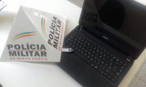 Notebook recuperado pela PM