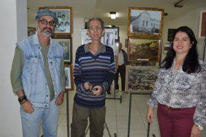 Edra, José Brisce e a supervisora Educacional, Adriana Pereira Penna