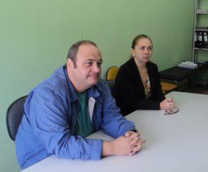 Secretário Bruno da Costa e Sandra Carli, da CDL