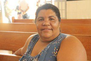 A moradora Maria Imaculada gostou das palestras na área de saúde