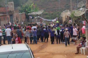 Comunidade se reuniu para receber membros da Igreja Águas Vivas
