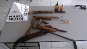 Material encontrado na casa do idoso