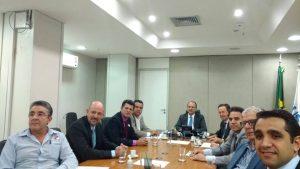 Reunião teve por objetivo tratar de assuntos relacionados à busca de recursos da Rede Cegonha e emendas parlamentares na esfera federal