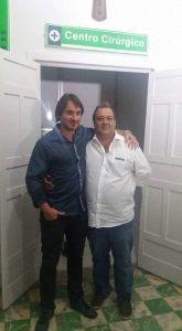 Os administradores do hospital, médicos Paulo Pires e José Carlos Silva (Foto: Rádio Clube Inhapim)