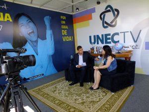 UNEC TV gravou entrevistas durante a Feira