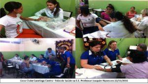 Centenas de alunos tiveram aferida a pressão arterial e fizeram a medição dos índices de glicemia