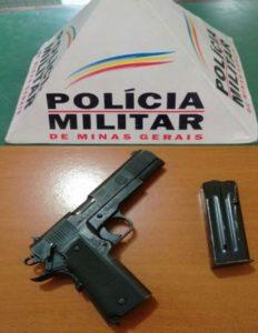 Arma recuperada pelos militares