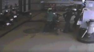 Câmeras de segurança gravaram o assalto em Vargem Alegre