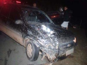 Veículo envolvido na colisão contra o Fiat Elba