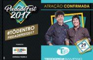 Teodoro & Sampaio estão oficialmente confirmados para o PIEDADEFEST 2017