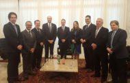 Presidente da ALMG, Adalclever Lopes, recebe representantes da diplomacia americana
